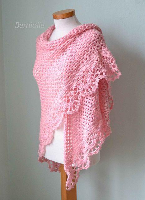 821 Pink crochet shawl by BernioliesDesigns, via Flickr