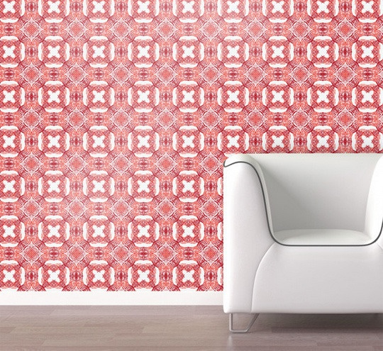 Swag Wall Paper from Apartment Therapy