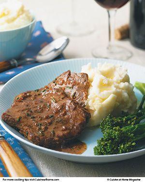 Steak Diane - Julia Child's classic recipe courtesy of Cusine at home's eRecipes!