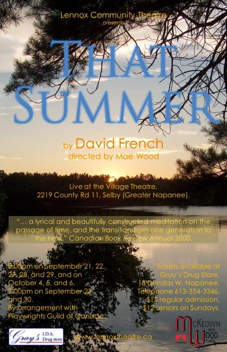 That Summer at the Selby Village Theatre.