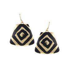 2015 Newest Style Geometric Statement Earrings Ethnic Black Enameling Gold Silver Plated Rock Drop Earrings Bijoux For Women(China (Mainland))