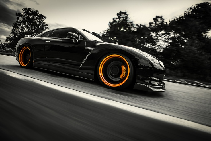 Nissan black GT-R shoot.