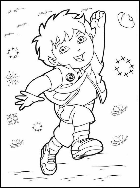 Printable Coloring Pages For Kids Go Diego Go 37 Libro De Colores Páginas Para Colorear Páginas Para Colorear Para Niños