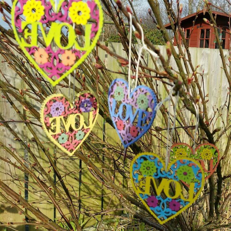 Wooden love hearts