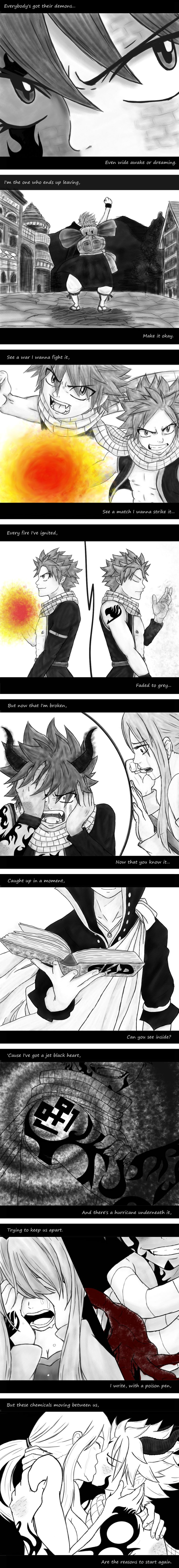 END!Nalu - Jet Black Heart by bittybitt39 on DeviantArt Not sure if I should pin to my 5sos board or my anime one