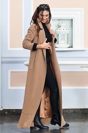 Kuaybe Gider · Kadın Tekstil - Camel Palto 7013.21 %40 indirimle 249,99TL ile Trendyol da