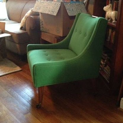 Newly Upholstered (!) In Green Wool, Super Cute Side Chair. $200 Http