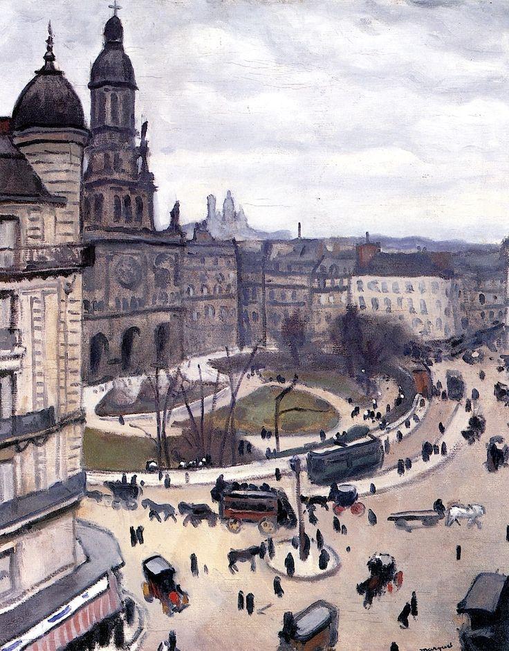 Place de la Trinité - Paris : Albert Marquet