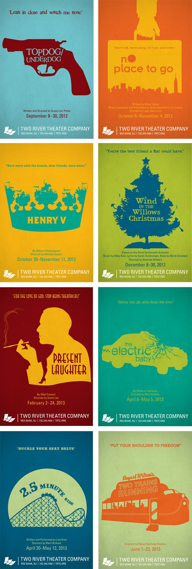2 color poster design - Complete Collection Of Two River Theater Company 12 13 Season By Desantis Creative Theatre Posterstheaterdesign Layoutscolor