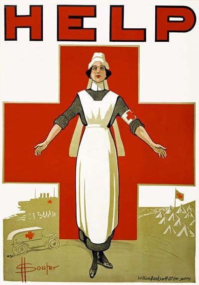 WA135 Vintage WW1 HELP Australian Red Cross Nurses World War 1