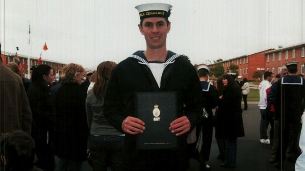 Brett Dwyer suffered abuse and depression while in the Navy.