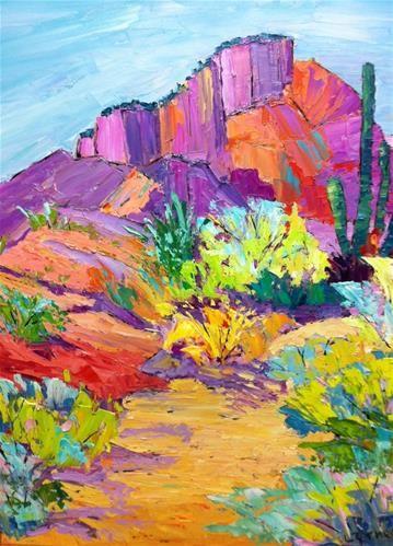 Arizona Desert Color - oil by ©Liz Zornes (via DailyPaintworks)