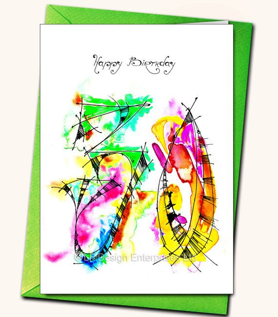 30th Birthday LARGE Greeting card Personalised by LubaFenwickGifts