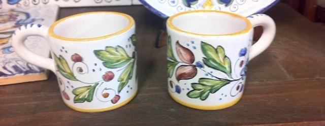Set caffè uccellini | Ceramiche Rinascita