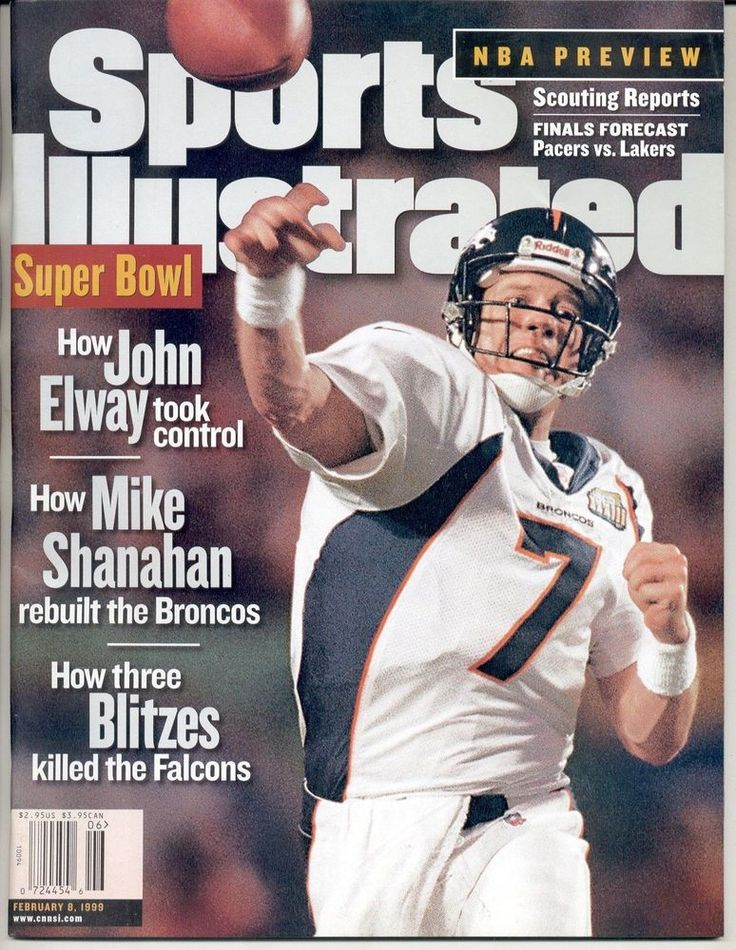 denver #Broncos sports illustrated no label john elway super bowl newsstand from $12.95