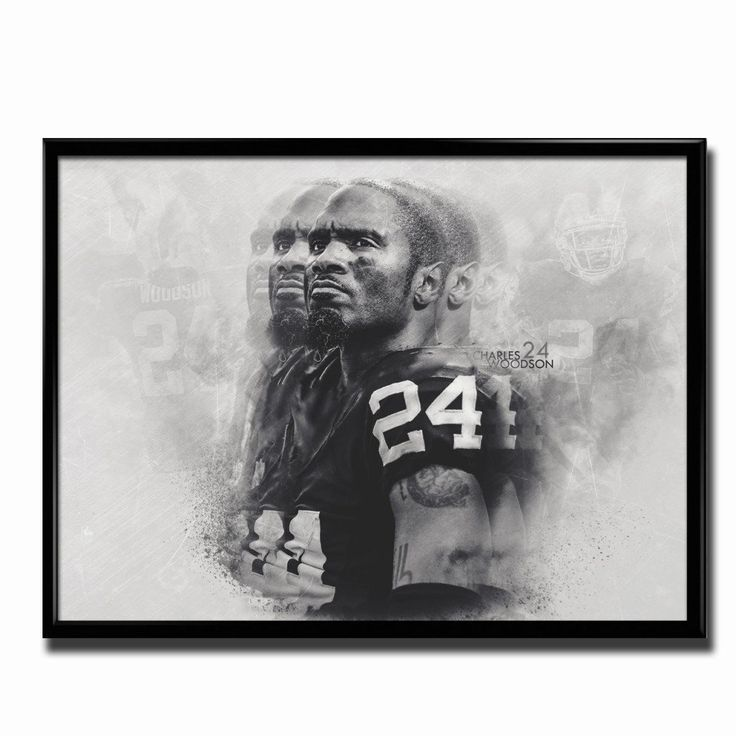 Oakland raiders charles woodson legends 24x18 football poster