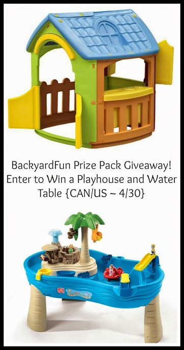 #BackyardFun Prize Pack Giveaway! Enter to Win a Playhouse and Water Table {CAN/US ~ 4/30}