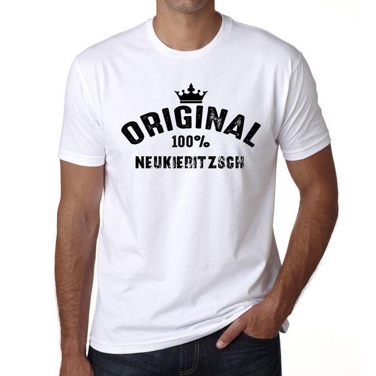 neukieritzsch, 100% German city white, Men's Short Sleeve Rounded Neck T-shirt