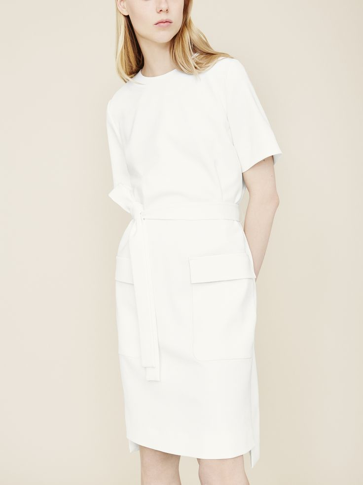 COS | occasion dress in white