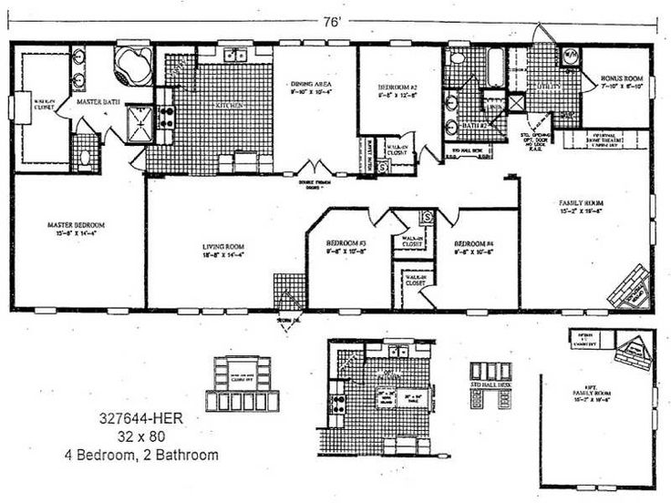 11 best Double Wide Mobile Home Floor Plans images on Pinterest ...