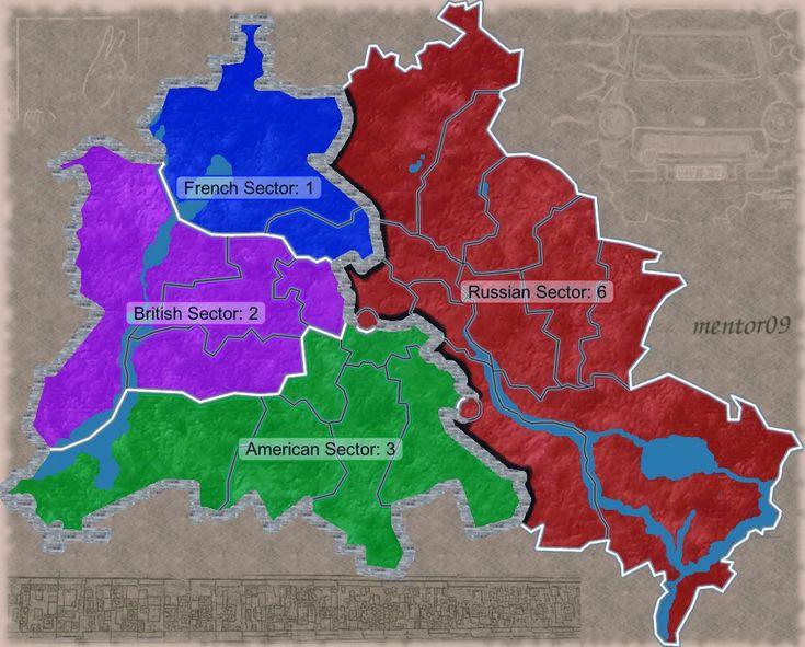 Mappa e cartina del muro di Berlino