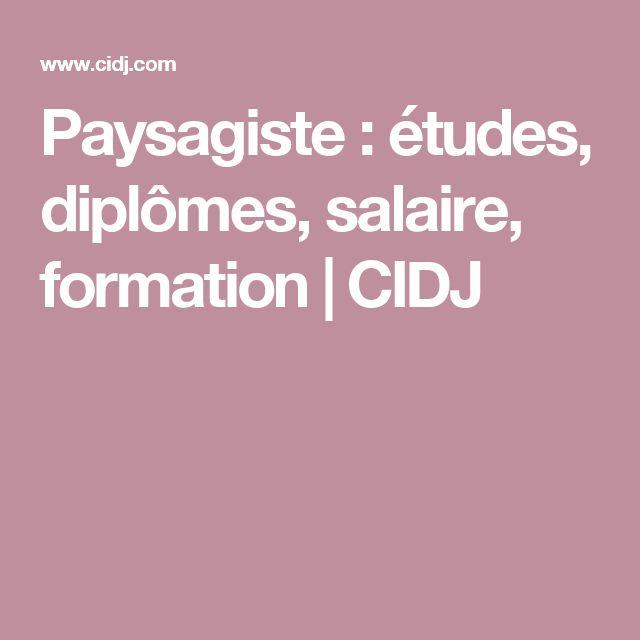Paysagiste : études, diplômes, salaire, formation | CIDJ