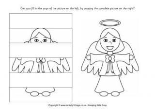 Complete the Angel Puzzle