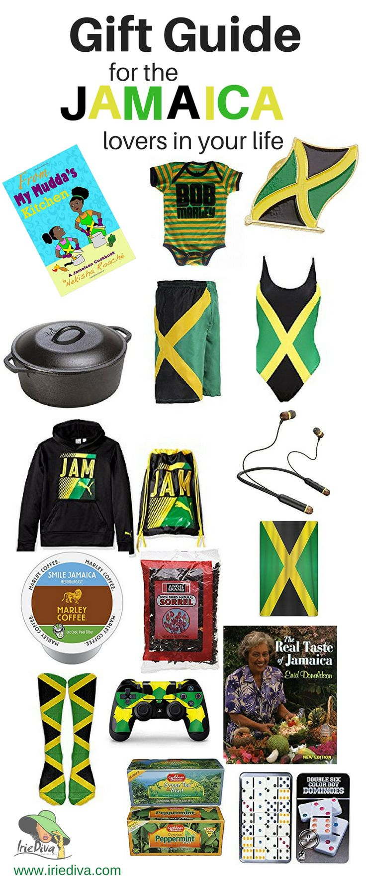 Gift ideas for the Jamaican in your life! If you're looking for Jamaican souvenirs or presents to buy for a Jamaican, this gift guide written by a local will guide you to the perfect gifts!