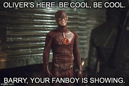 You're fanboy is showing. #arrow #theflash