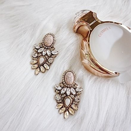 "Statement-Ohrringe ""Crystal Frost"" mit Marmor-Design #Mode #Style #Ohrringe"