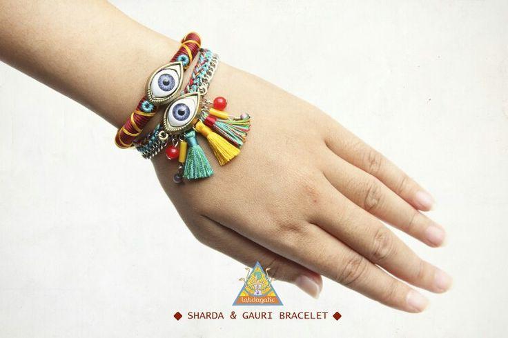 Sharda bracelet and mint gauri bracelet