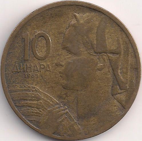 Wertseite: Münze-Europa-Südosteuropa-Jugoslawien-Dinar-10.00-1963