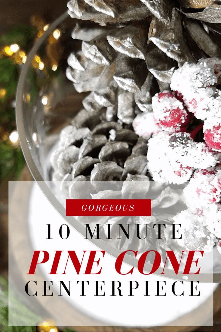 Beautiful pine cone holiday centerpiece that only