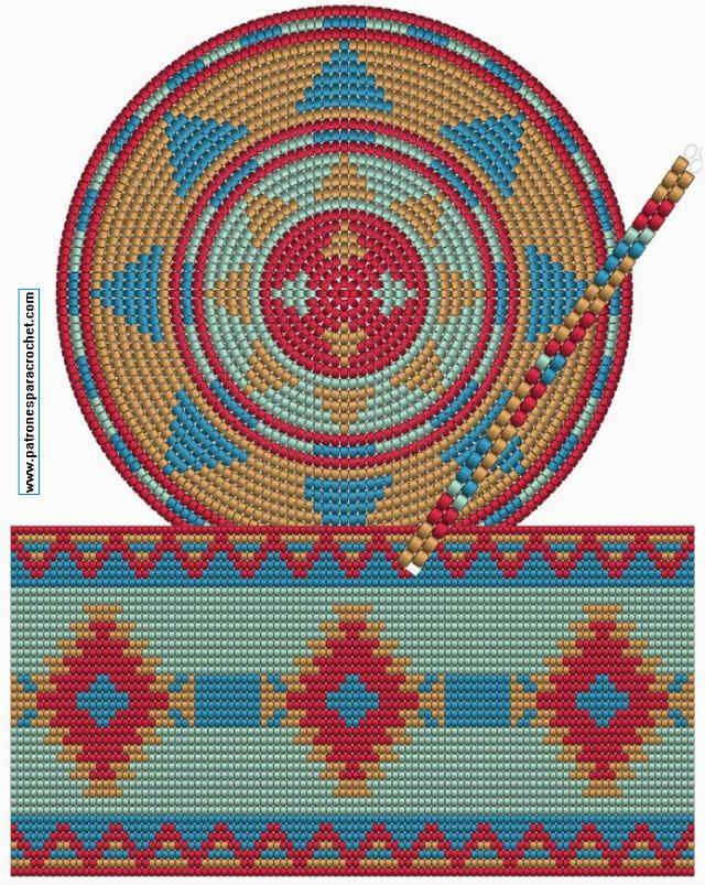 Moldes y patrones de bolsos tapestry mochilas Wayuu