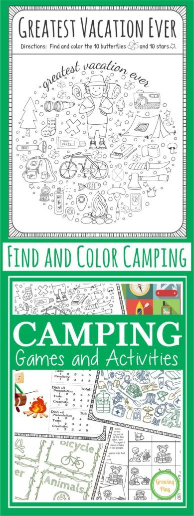 Camping Find and Color - The Greatest Vacation Ever - Growing Play