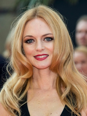 Heather Graham's matte red lip