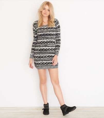 Jacquard Sweater Dress