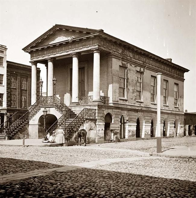 Scootkgw The Market In Charleston In 1865 Happiness Is Pinterest Sons Building And Street