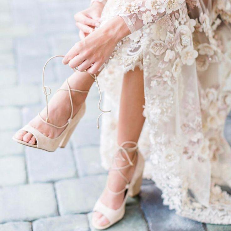 While Supplies Last Women's White Strappy Chunky Bridal Heels Pumps #elegantshoe…