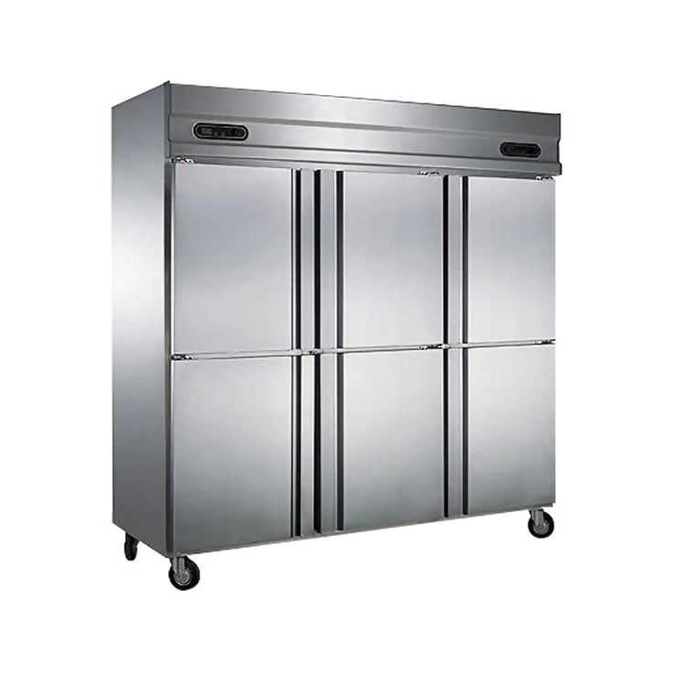 Lecon 6 дверь шесть дверь холодильника морозильная камера морозильная камера большая емкость коммерческие холодильные шкафы для хранения LC-LG601
