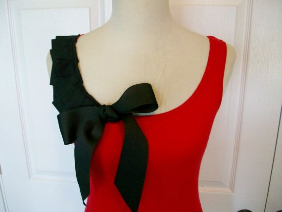 Special Listing Embellished Red Tank Top with por RaspberryMarket