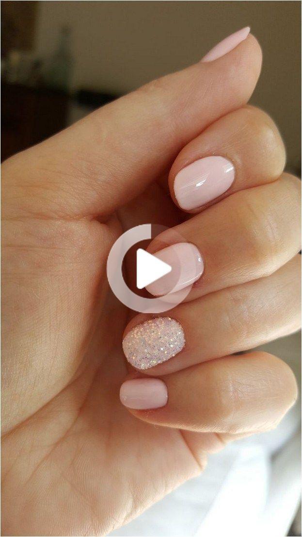 55 Glitter Gel Nail Designs For Short Nails For Spring 2019 23