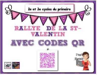 FREEBIE/Rallye internet CODES QR/St-Valentin. #Frimm #FrenchTech #EdTech #codesqr