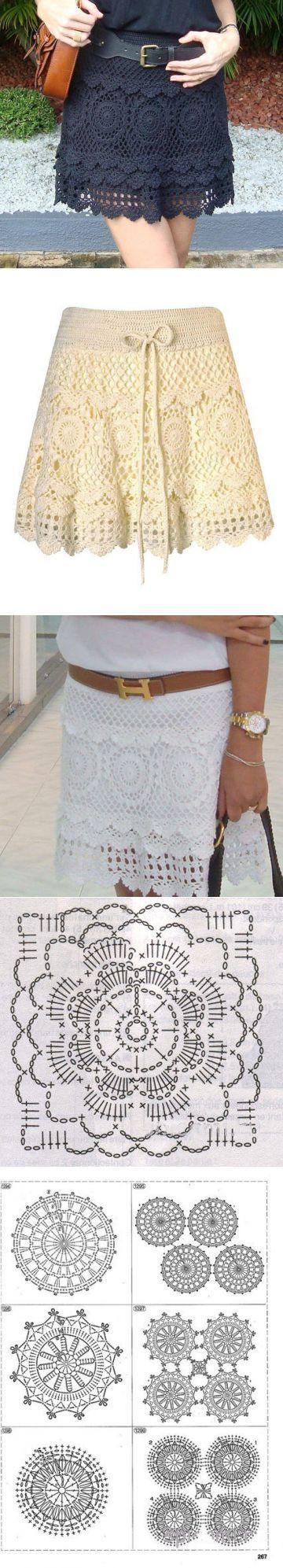 Красивая юбка крючком   Рукоделие и вышивка