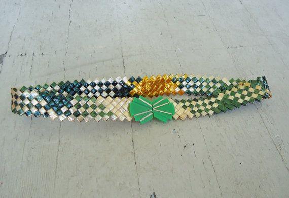 20s Folded Wrapper Prison Art Deco Belt