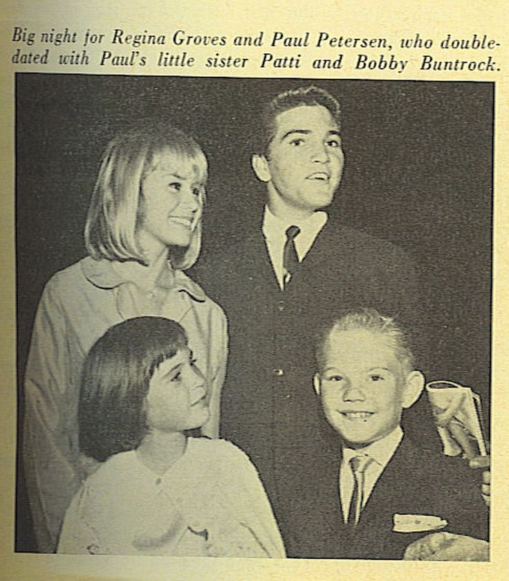 Big night for Paul Petersen, (Donna Reed Show) and Bobby Buntrock, (Hazel)