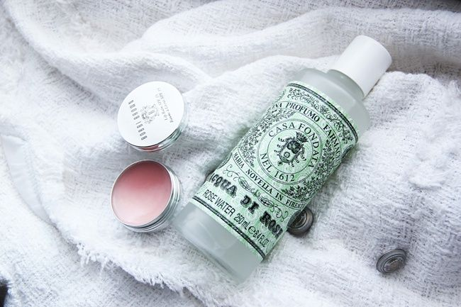 Rose Water toner from Santa Maria Novella, it's the perfect beauty care product   Also absolutely adore this Bobbi Brown lip balm, it nourished the lips perfectly