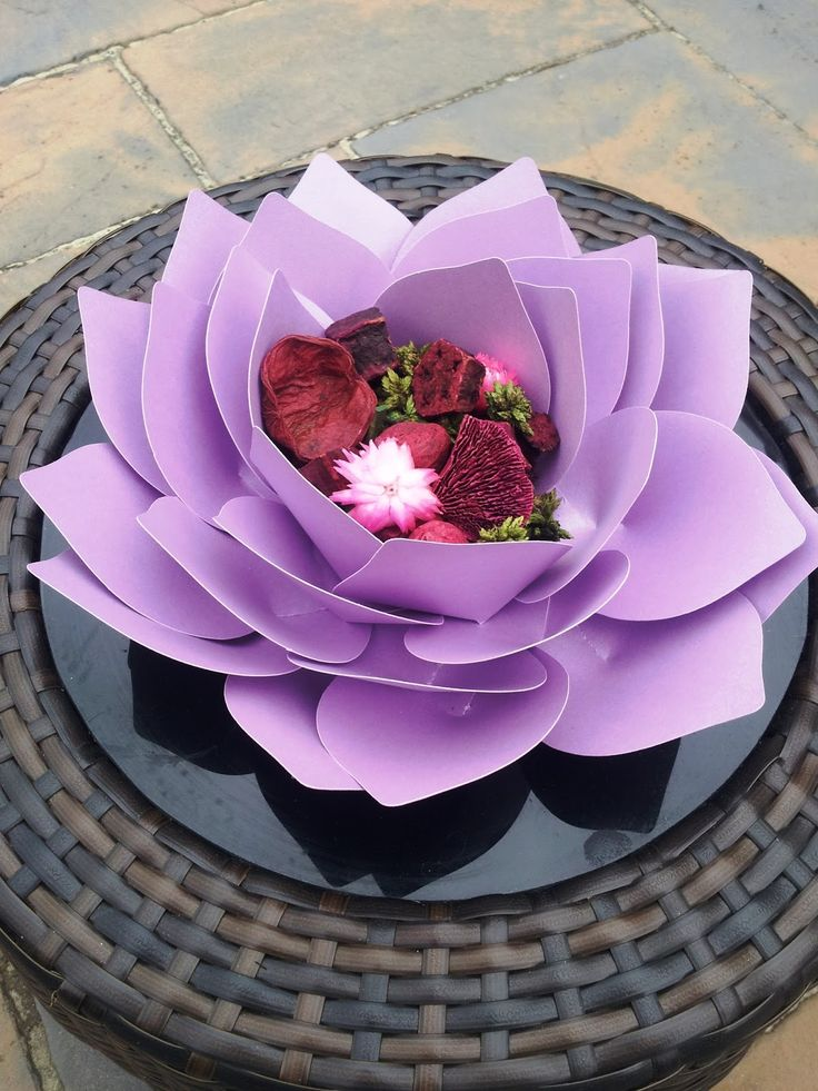creative lesley  giant paper lotus flower
