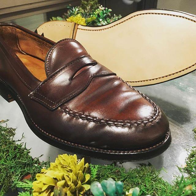 2016/11/07 16:01:00 kilinshoes.jp こちらは無印の時のお客様、底を全交換しました。 #日々の仕事 #靴修理 #高円寺 #阿佐ヶ谷 #中野 #杉並区 #キリン靴修理 #修鞋 #オールデン #コードバン #良品計画 #お直し市場2016 #shoerepair #shoegram #shoelover #shoeslover #alden #cordovan #muji #鍋の日