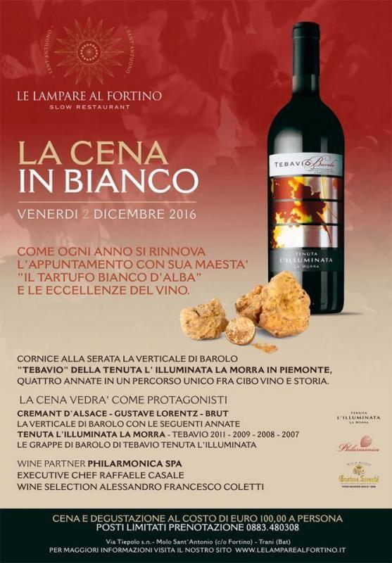 categoria evento Eventi nella sezione Enogastronomici. Titolo Evento Le Lampare Al Fortino - La Cena In Bianco. - Trani(BT), Puglia